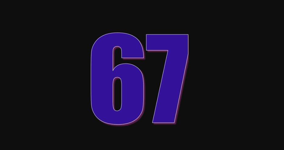 Zahl 67