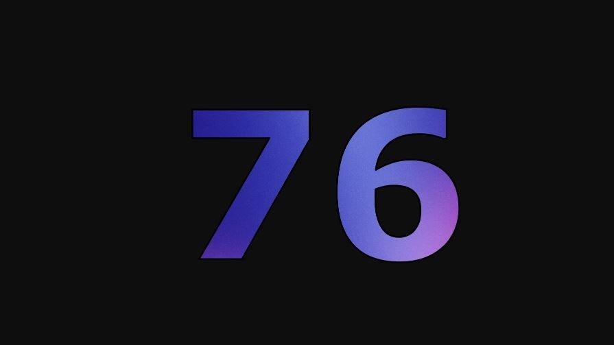 Zahl 76