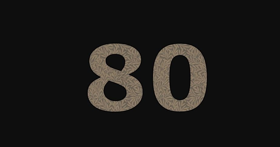 Zahl 80