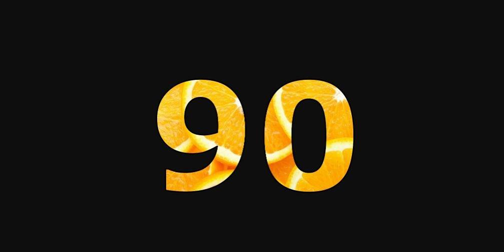 Zahl 90