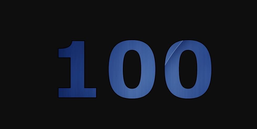 Zahl 100