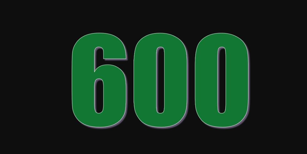 Zahl 600
