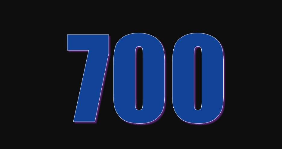 Zahl 700