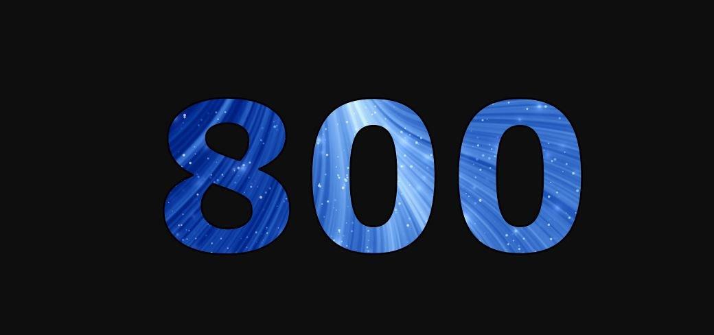 Zahl 800