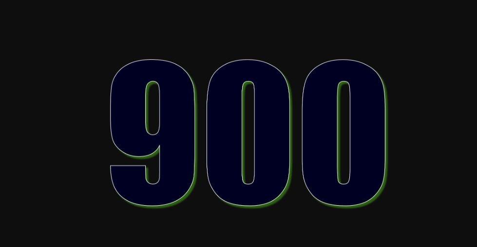 Zahl 900
