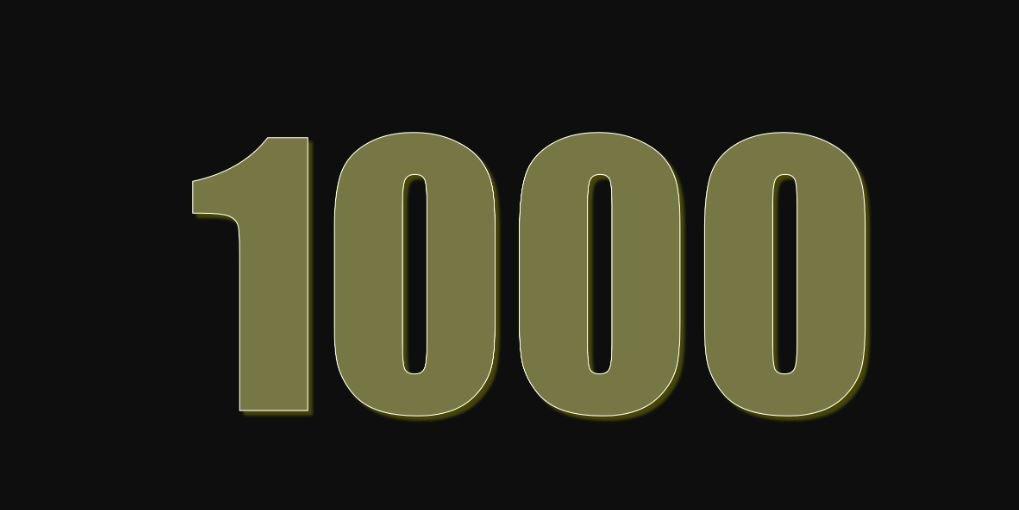 Die Bedeutung der Zahl 1000: Numerologie und Zahlenmystik