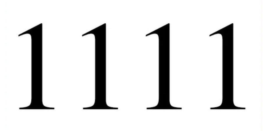 Zahl 1111