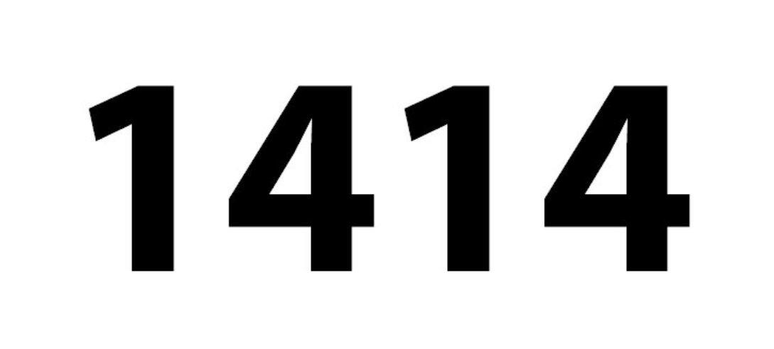 Zahl 1414