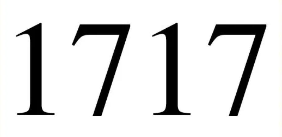 Zahl 1717