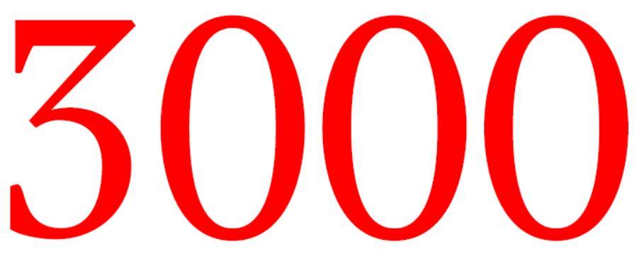 Zahl 3000