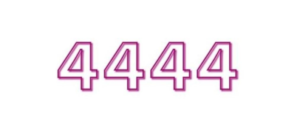 Zahl 4444