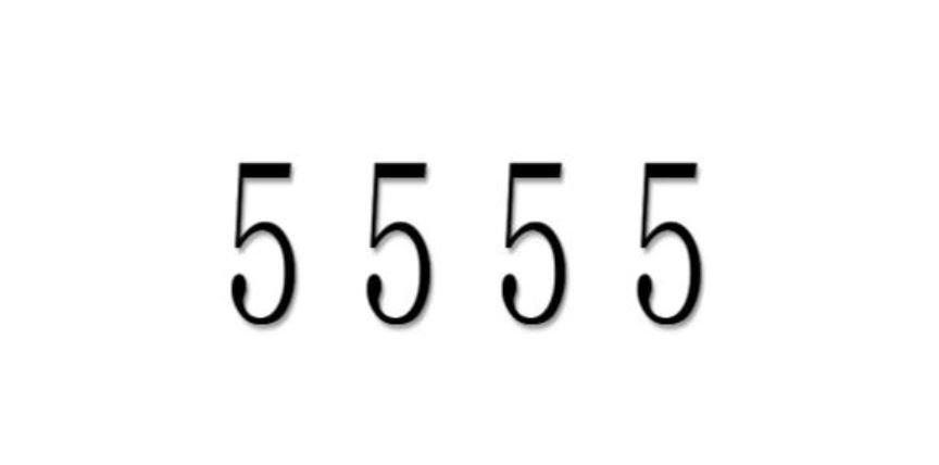 Zahl 5555