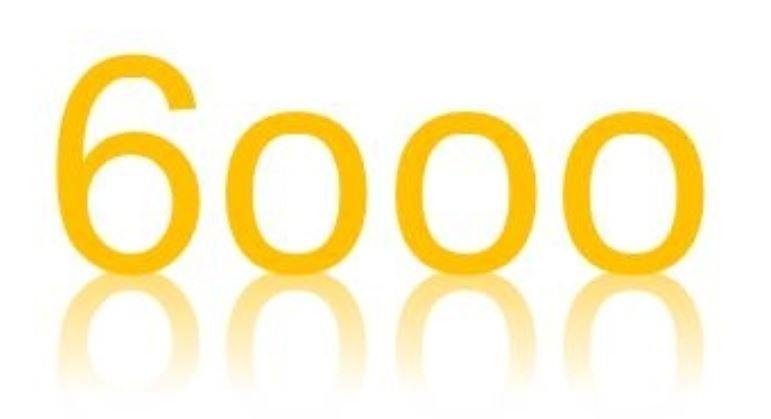 Zahl 6000