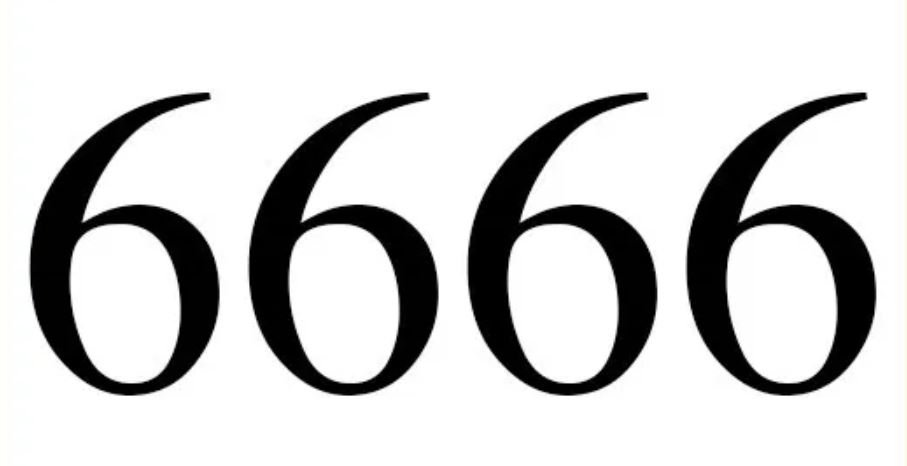 Zahl 6666