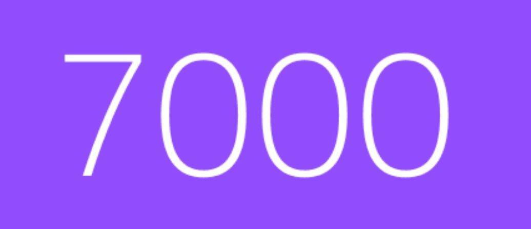 Zahl 7000
