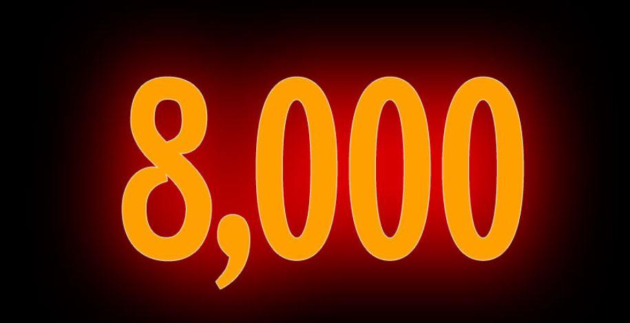 Zahl 8000