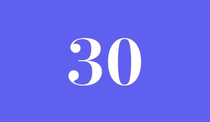 Engelszahl 30: Symbole und ihre Bedeutung