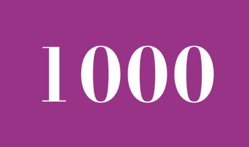 Engelszahl 1000