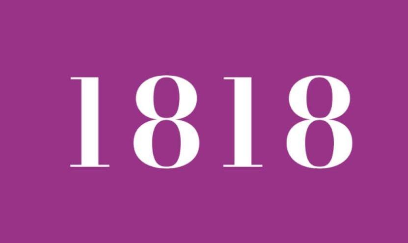 Engelszahl 1818