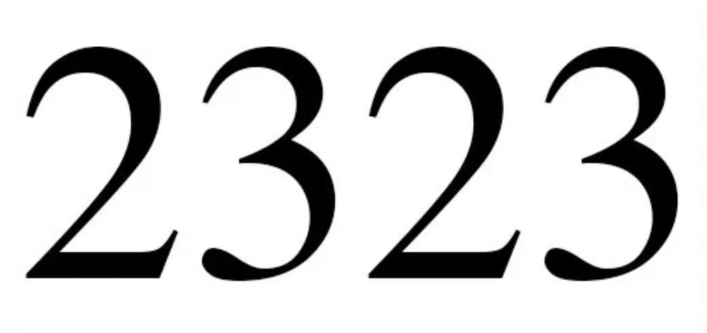 Zahl 2323
