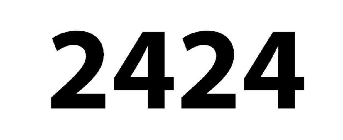 Zahl 2424
