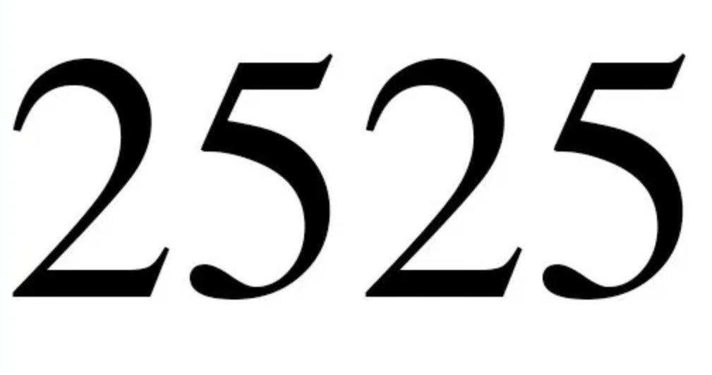 Zahl 2525