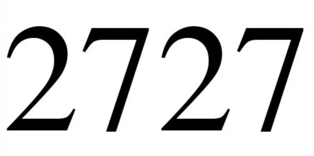 Zahl 2727