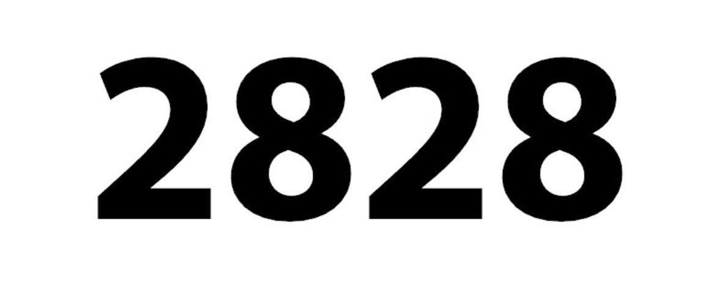 Zahl 2828