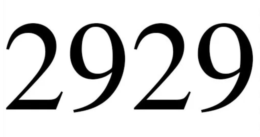 Zahl 2929