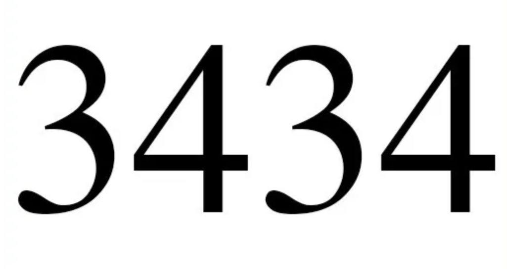 Zahl 3434