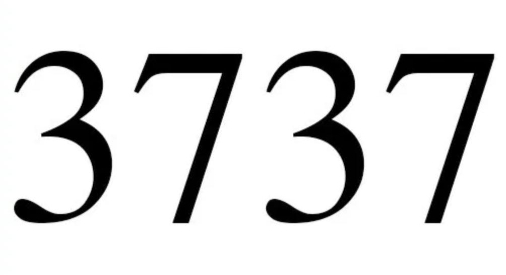 Zahl 3737