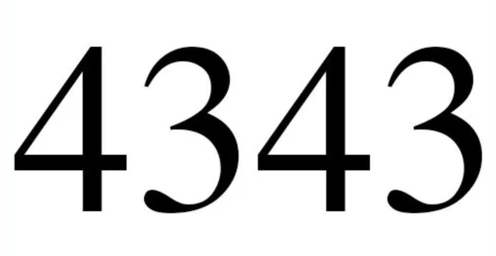 Zahl 4343