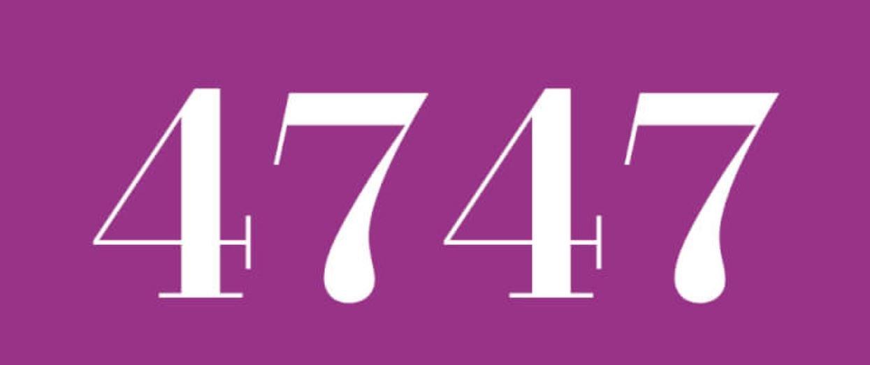 Zahl 4747