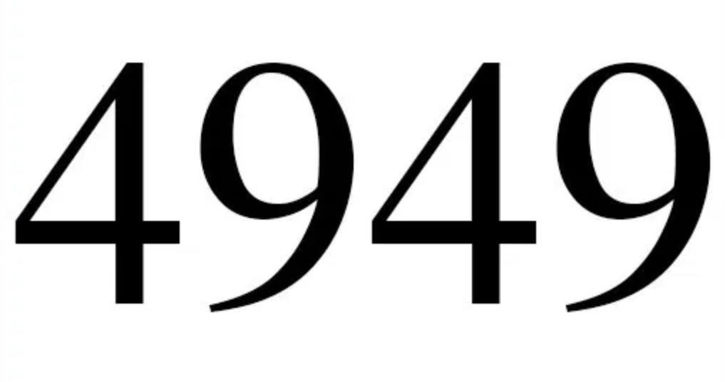 Zahl 4949