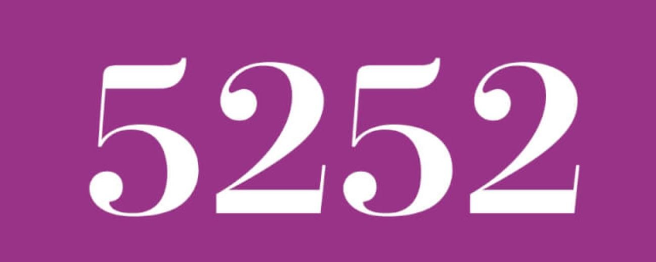 Zahl 5252