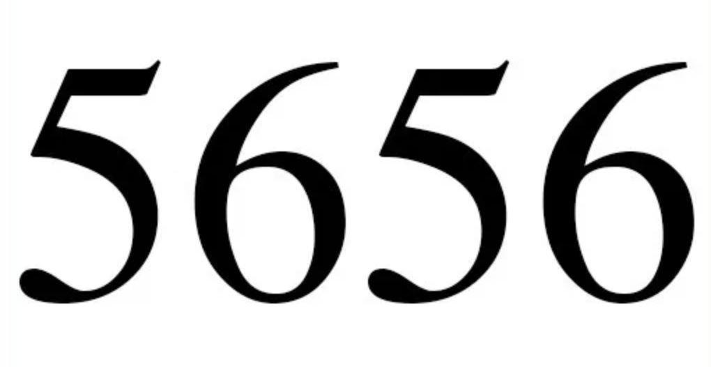 Zahl 5656