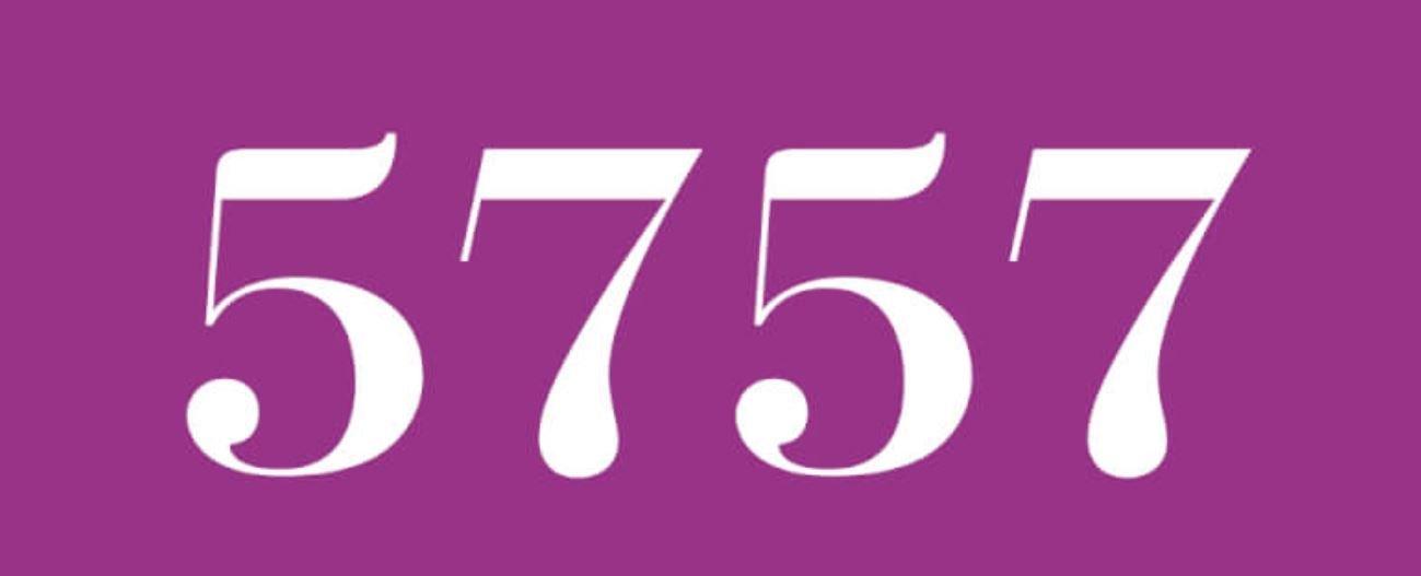 Zahl 5757
