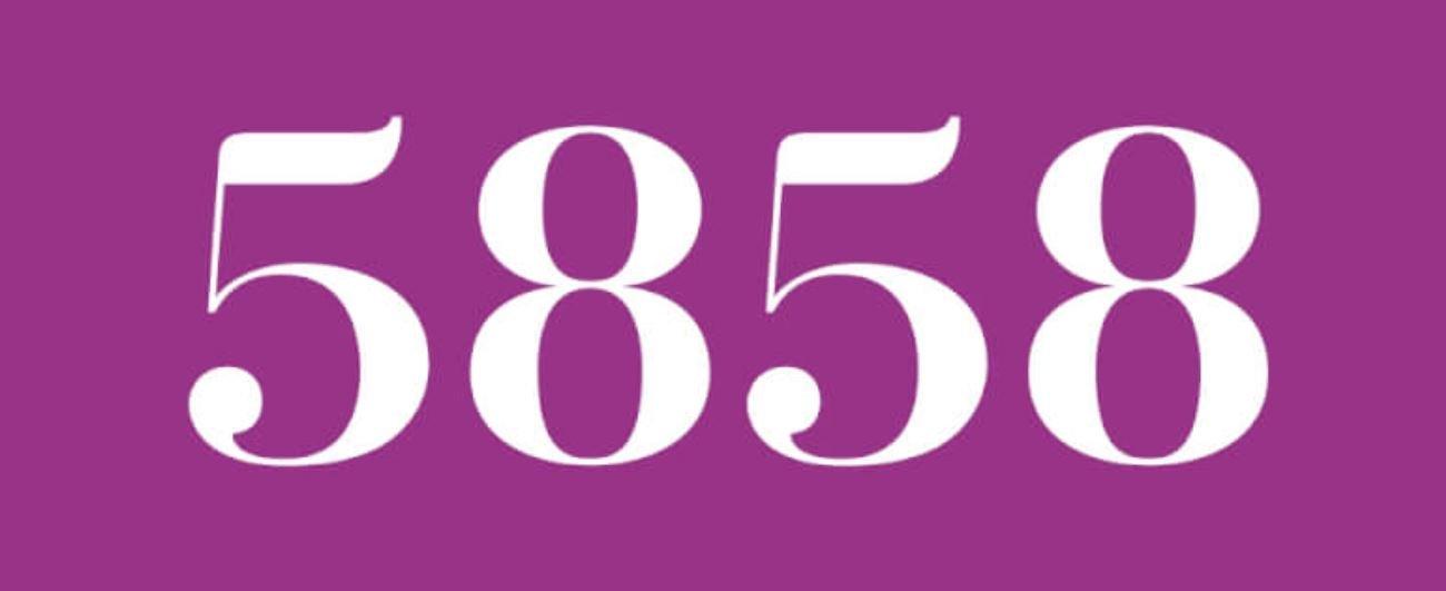 Zahl 5858