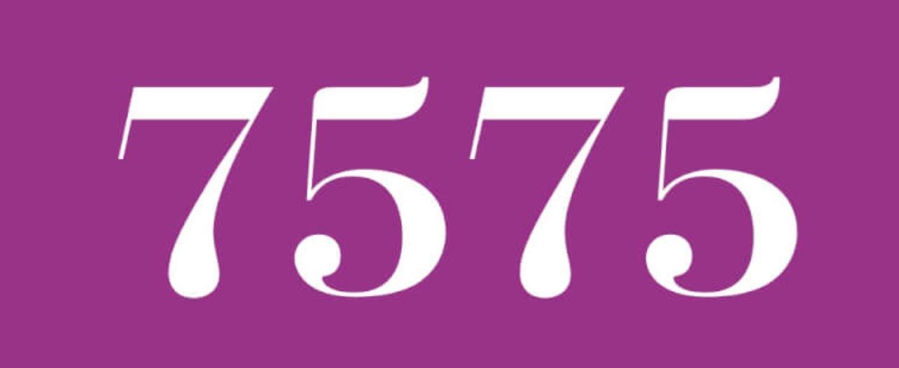 Zahl 7575