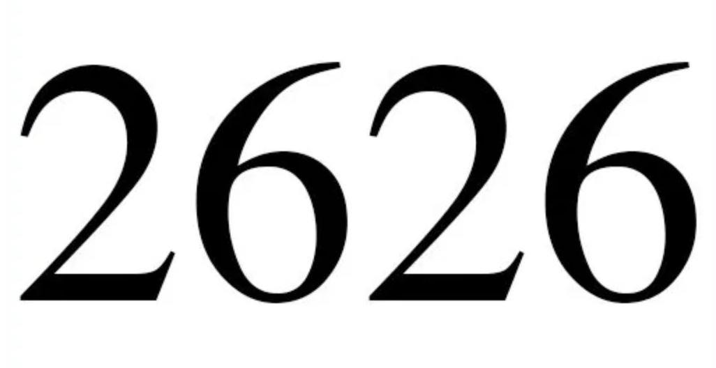 Engelszahl 2626