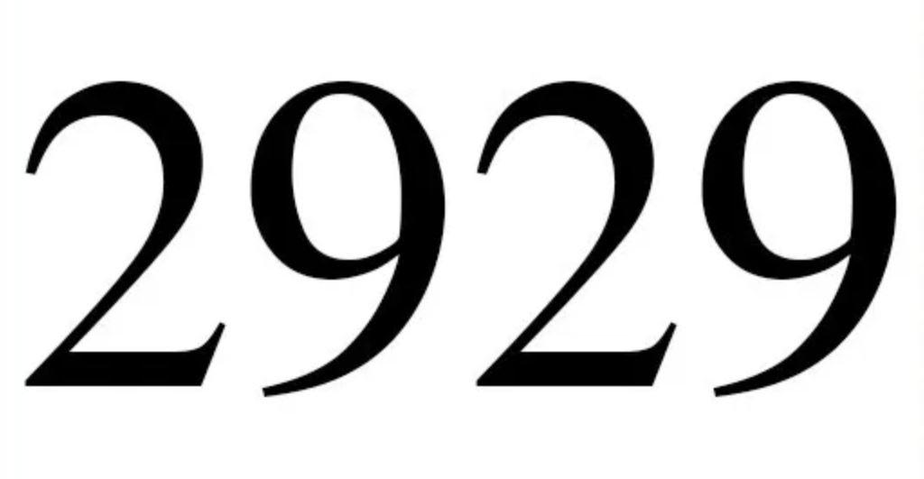 Engelszahl 2929