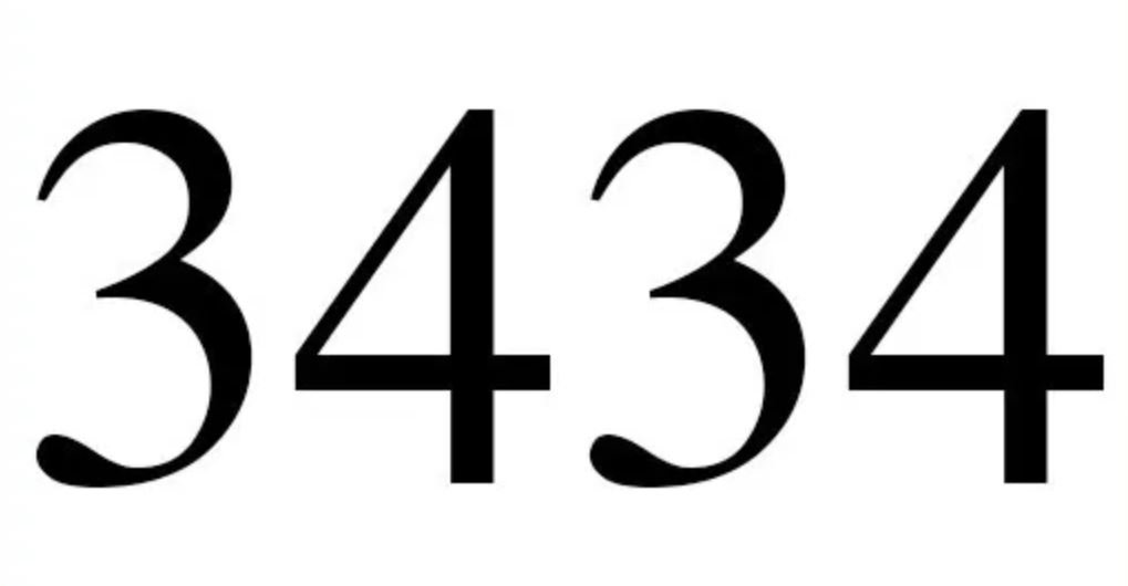 Engelszahl 3434