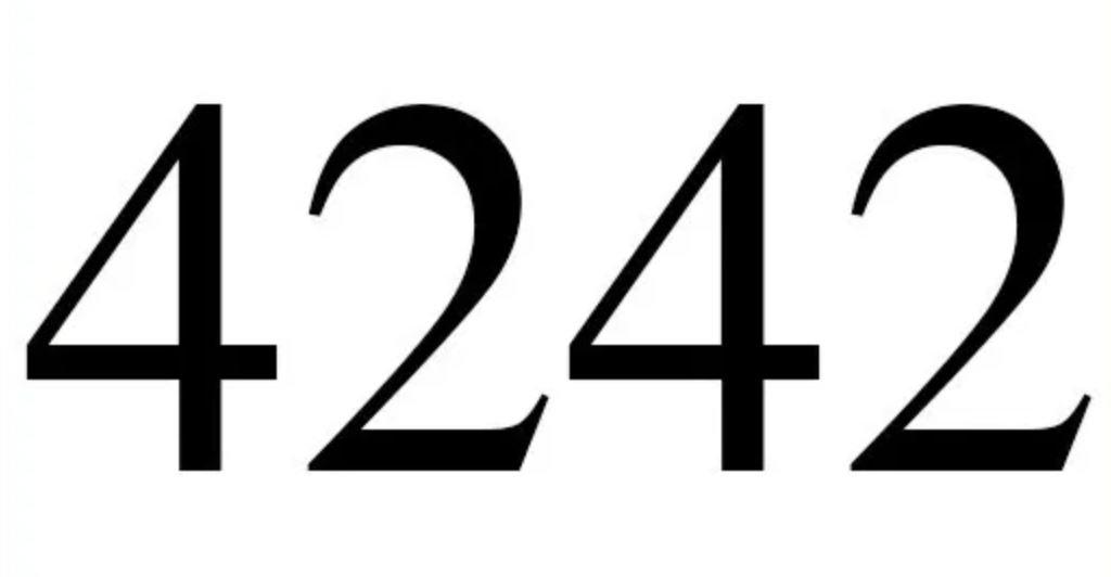 Engelszahl 4242