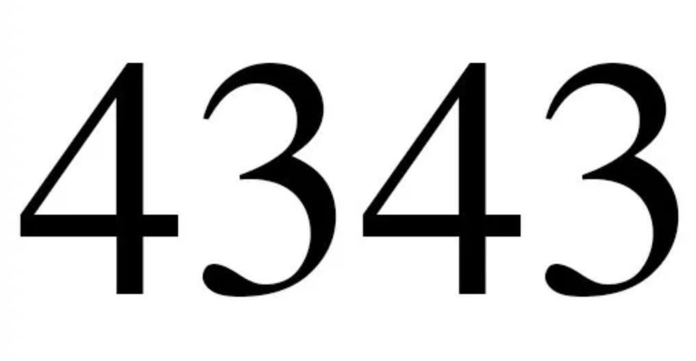 Engelszahl 4343