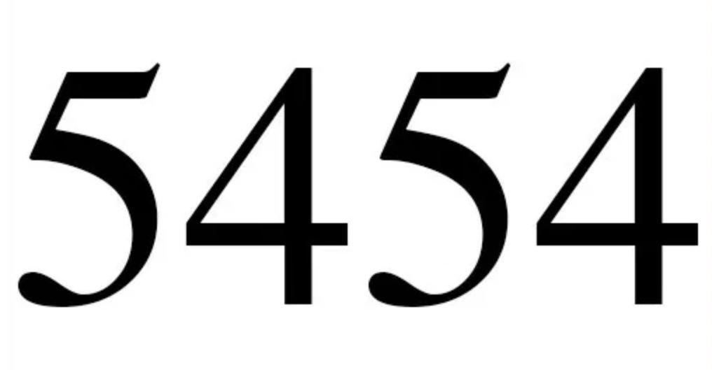 Engelszahl 5454