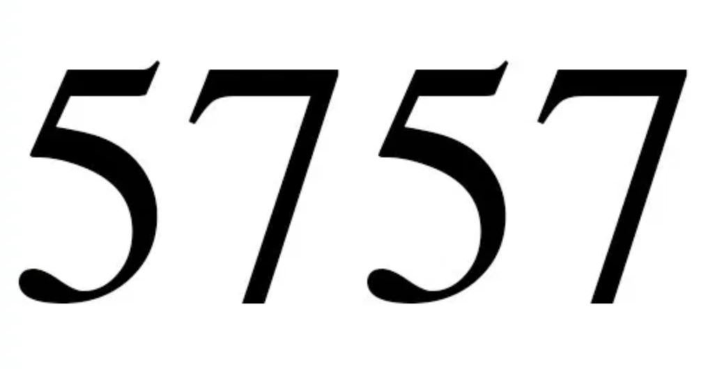 Engelszahl 5757
