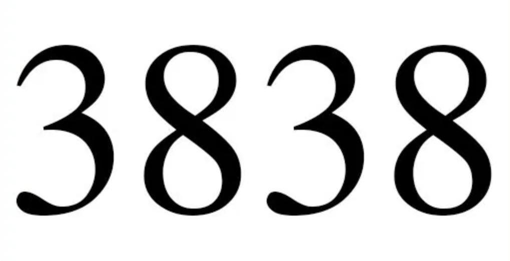 Engelszahl 3838