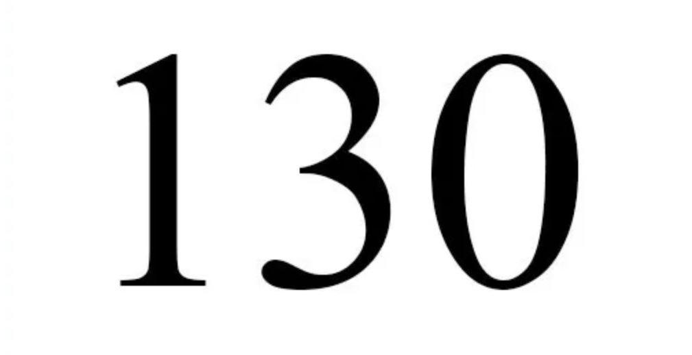Die Bedeutung der Zahl 130