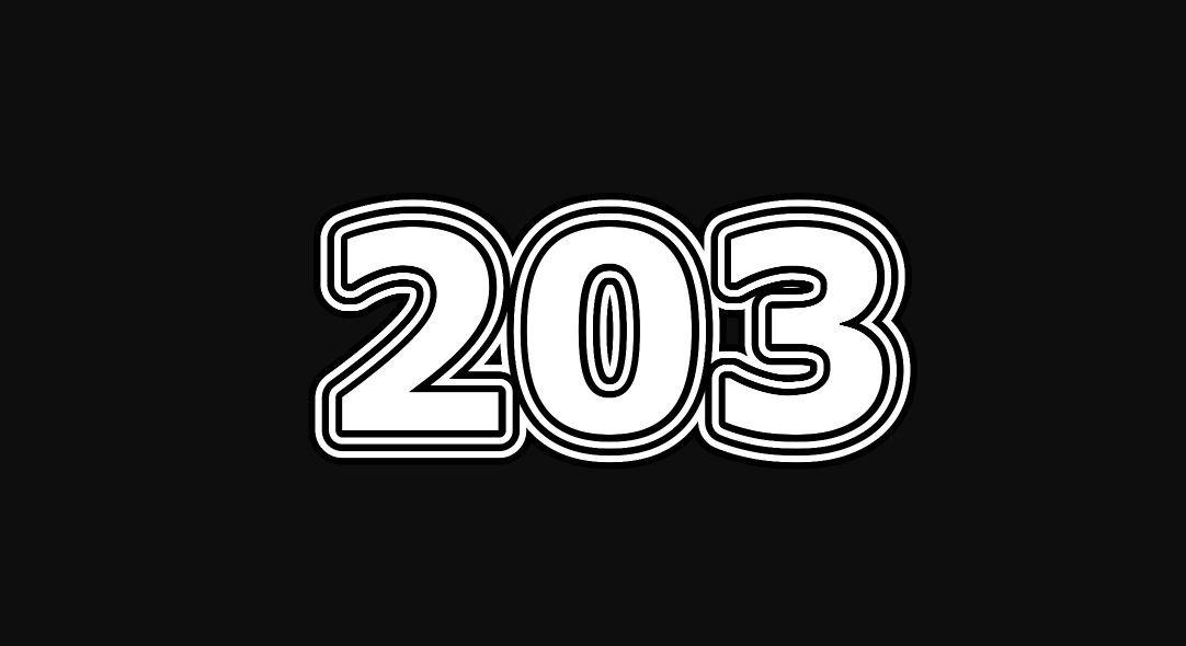 Die Bedeutung der Zahl 203