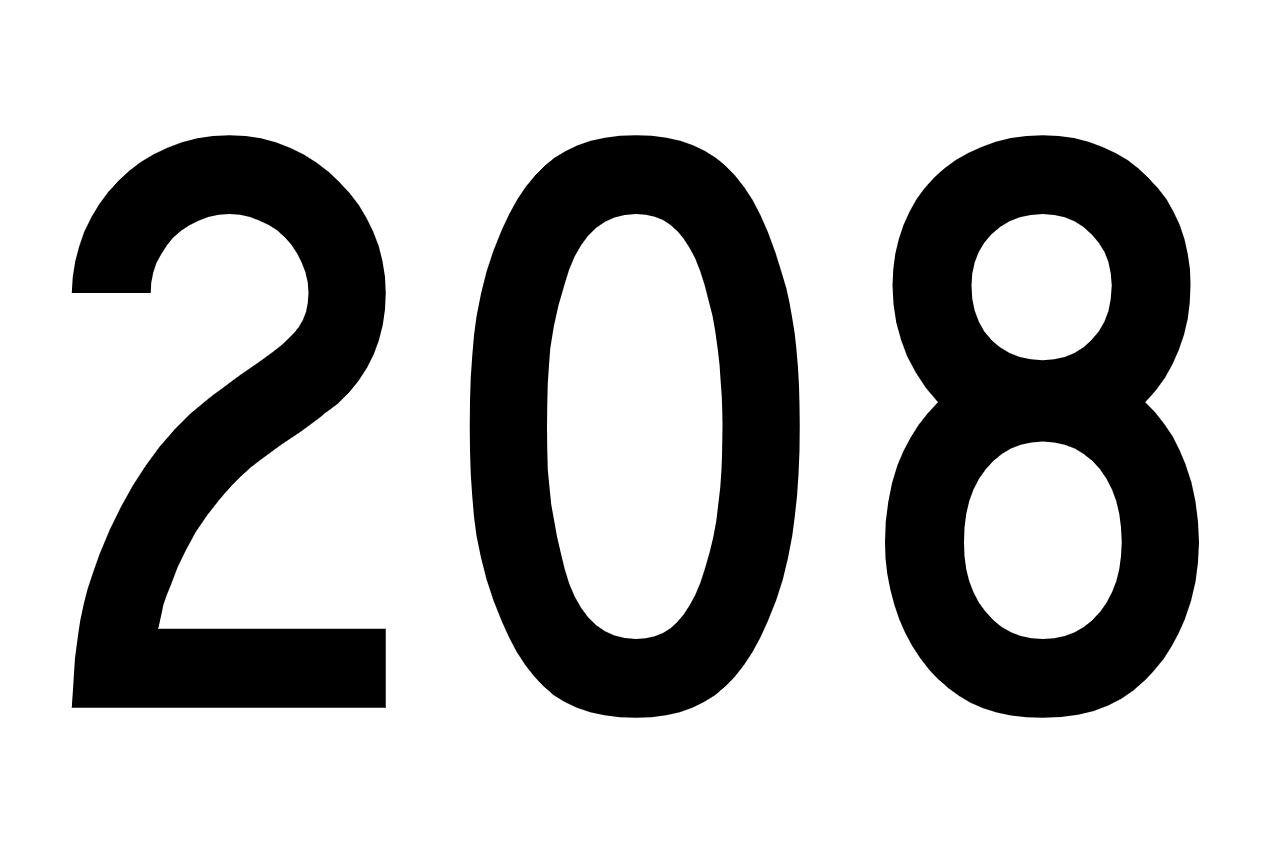 Die Bedeutung der Zahl 208
